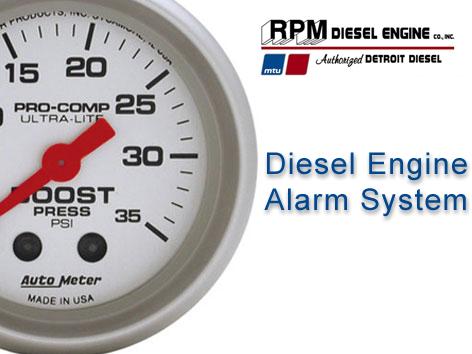 Diesel engine alarm